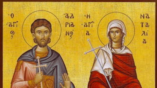 The Holy Martyrs Adrian and Natalie