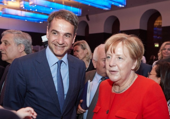 Merkel and Mitsotakis