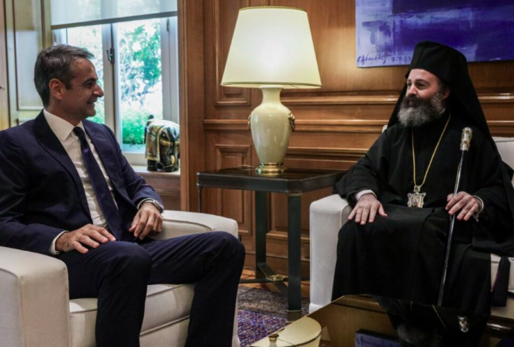 Australia's Archbishop Makarios meets Greek PM Mitsotakis 32