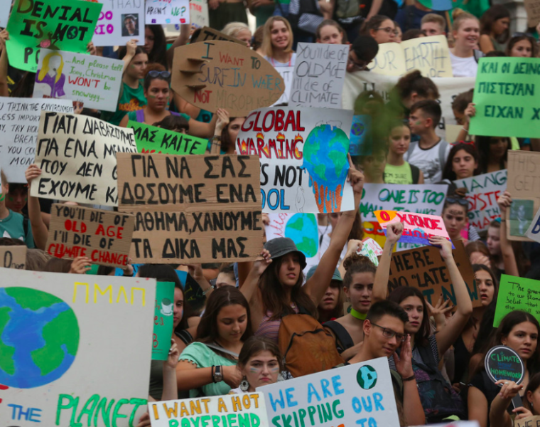 Greek students gather at Syntagma Square to protest against climate change 6