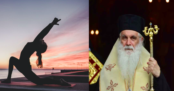 """Yoga is not exercise but a form of worship,"" says Metropolitan Nektarios 6"