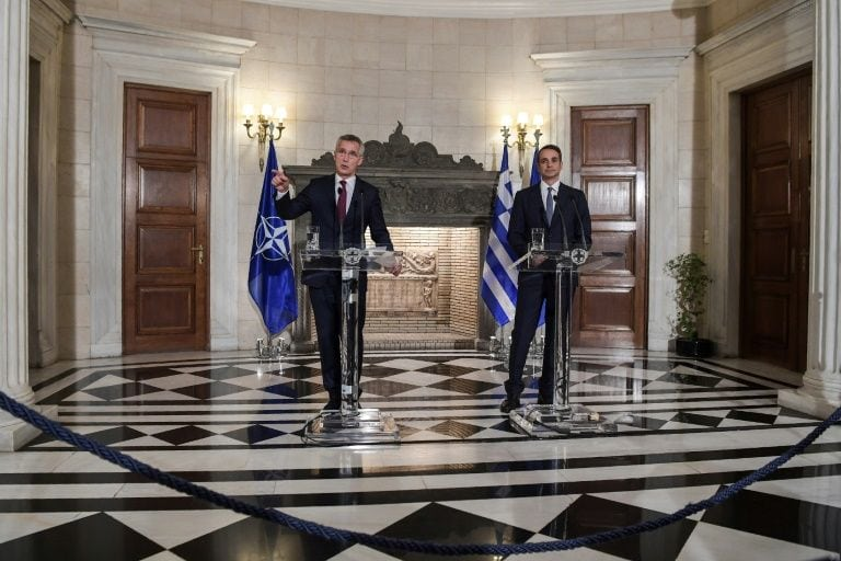 mitsotakis and Stoltenberg