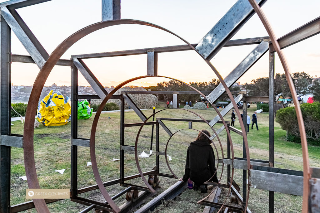 Greek artist proudly reveals award-winning work at Bondi's iconic Sculpture by the Sea 16