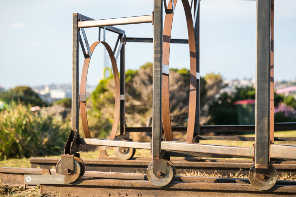 Greek artist proudly reveals award-winning work at Bondi's iconic Sculpture by the Sea 20