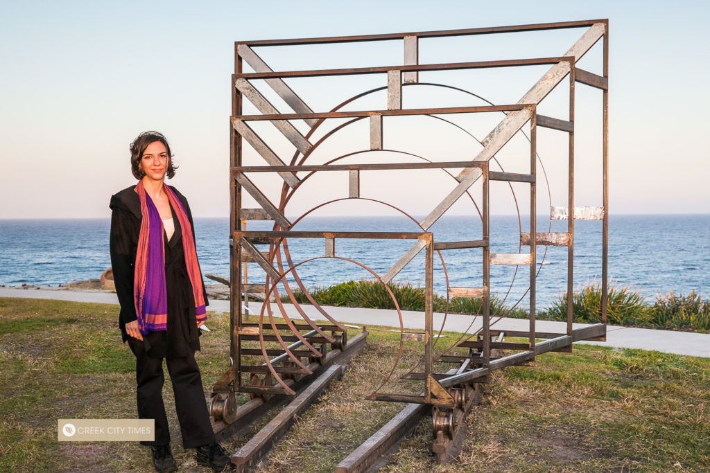 Greek artist proudly reveals award-winning work at Bondi's iconic Sculpture by the Sea 12