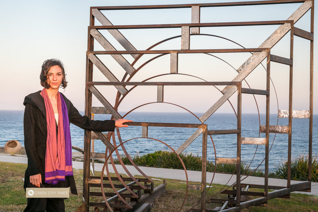 Greek artist proudly reveals award-winning work at Bondi's iconic Sculpture by the Sea 17