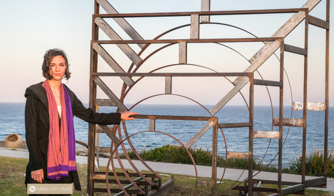 Greek artist proudly reveals award-winning work at Bondi's iconic Sculpture by the Sea 1