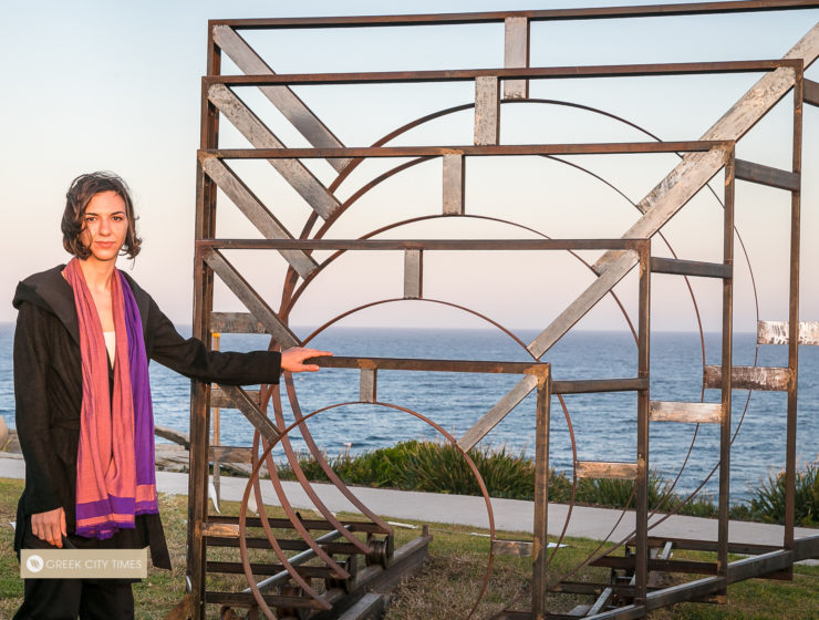 Greek artist proudly reveals award-winning work at Bondi's iconic Sculpture by the Sea 3