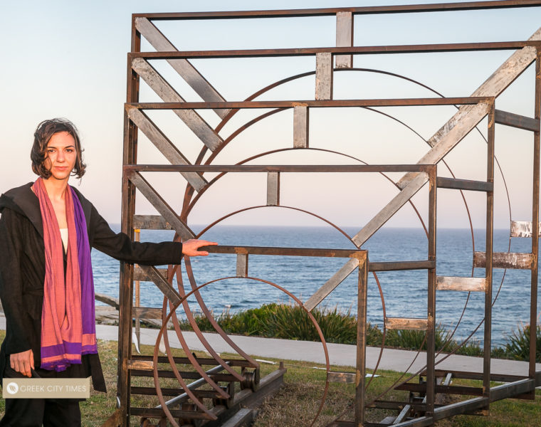 Greek artist proudly reveals award-winning work at Bondi's iconic Sculpture by the Sea 13