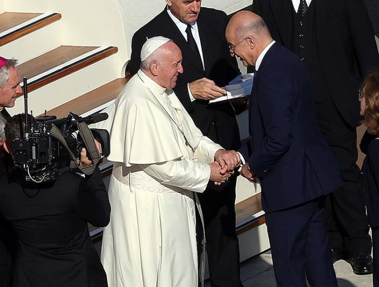 Nikos Dendias and Pope Francis