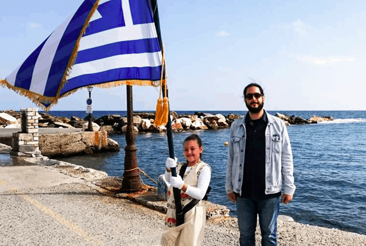 8-year-old student parades alone for 'Oxi Day' celebrations in Apollo 1