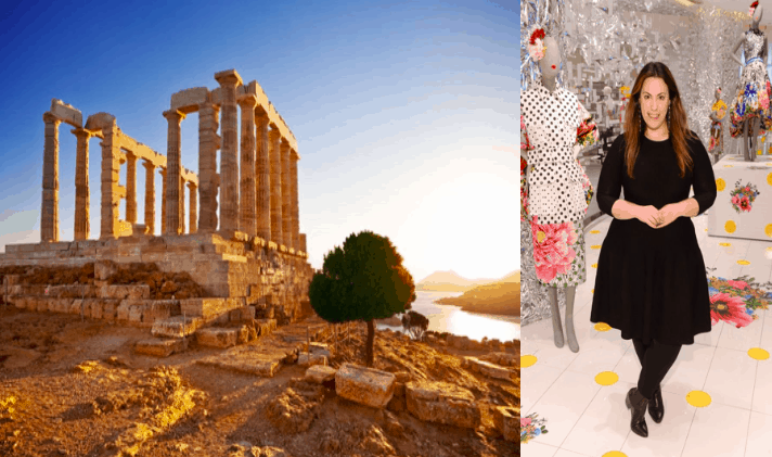 Mary Katrantzou's Dream Show at the Temple of Poseidon 2