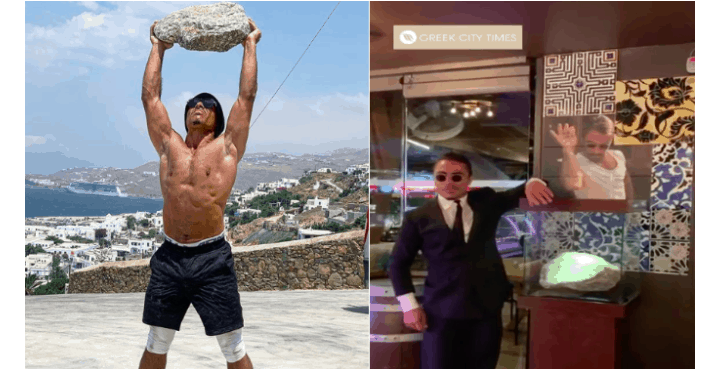 Famous restaurateur Salt Bae takes Mykonian boulder to Turkey in his suitcase (VIDEO) 15