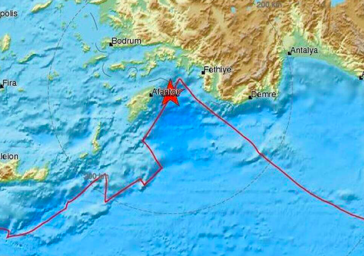 5.1 magnitude tremor shakes the island of Rhodes 23