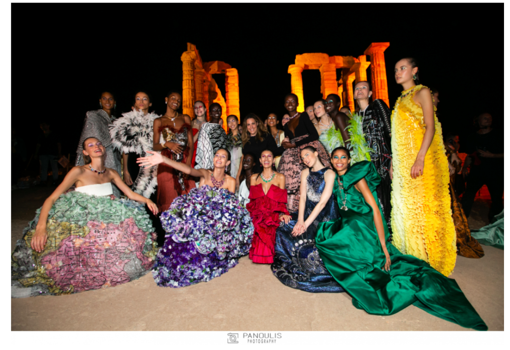 Mary Katrantzou presents stunning 'Ancient Greek inspired' collection at Sounio 3