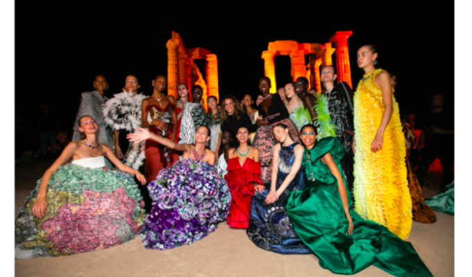 Mary Katrantzou presents stunning 'Ancient Greek inspired' collection at Sounio 6