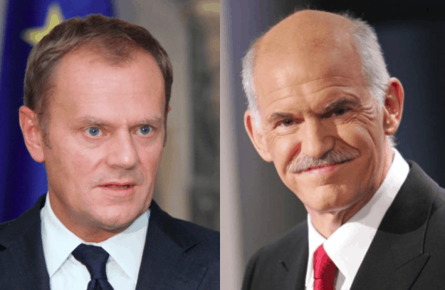 European Council President and George Papandreou