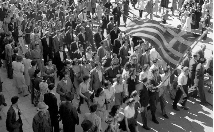 October 12, 1944, Athens is liberated from Nazi forces 44