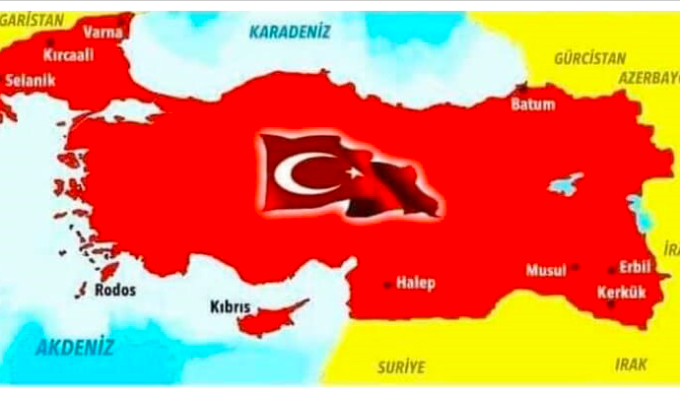 Fan page of Defence Minister Akar posts map of Turkey that includes parts of Greece and entire Cyprus 1