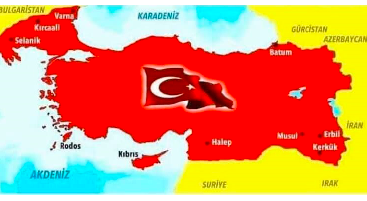 Fan page of Defence Minister Akar posts map of Turkey that includes parts of Greece and entire Cyprus 8