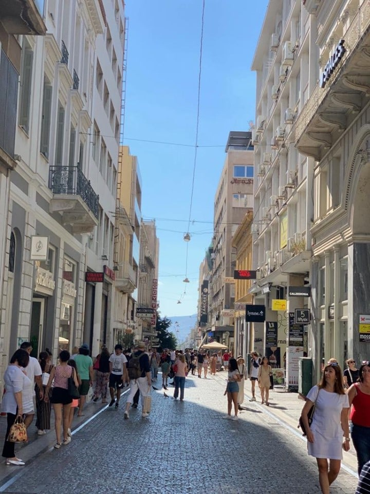 Athens' famous Ermou, named one of the world's most expensive shopping streets 1