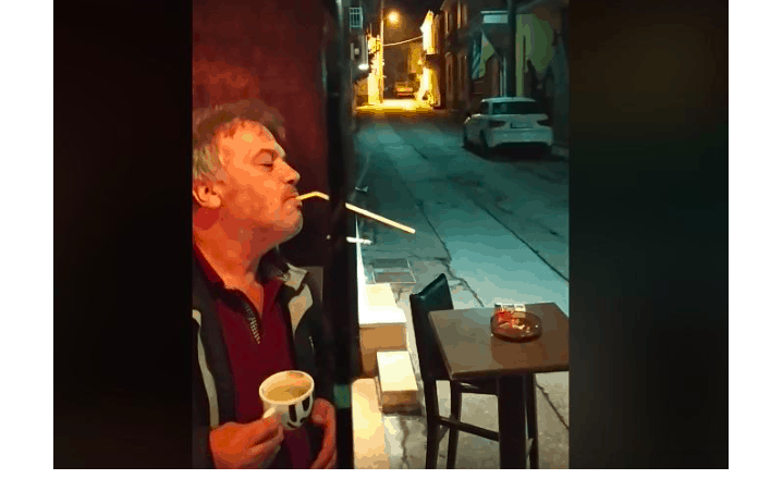 Greek man finds funny way to smoke indoors without breaking anti-smoking law (VIDEO) 1
