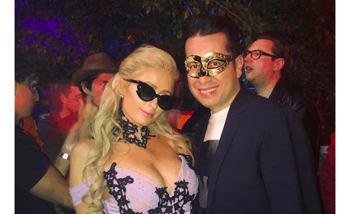 Greek media mogul Haris Sianidis attends Hollywood Halloween Party with Paris Hilton 9