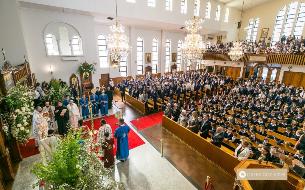 St Spyridon College Divine Liturgy celebrated by His Eminence Archbishop Makarios 30