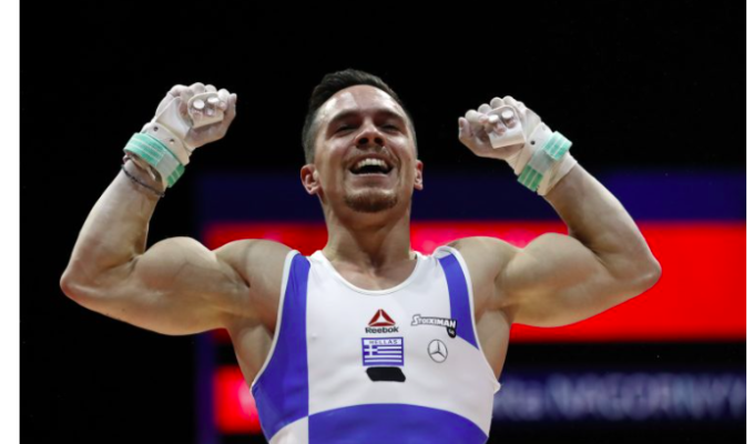 Greece's Eleftherios Petrounios advances to Gymnastics World Cup Finals in Germany 2