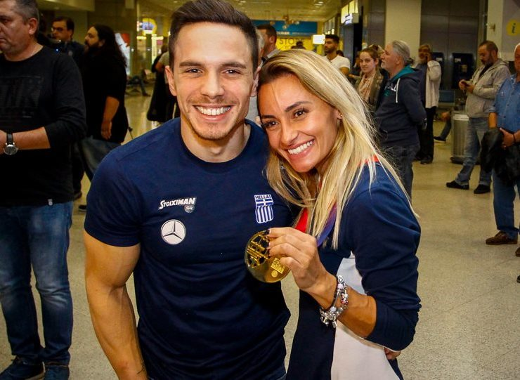 Greece's 'Lord of the Rings' Petrounias and gymnast wife celebrate arrival of baby girl 3