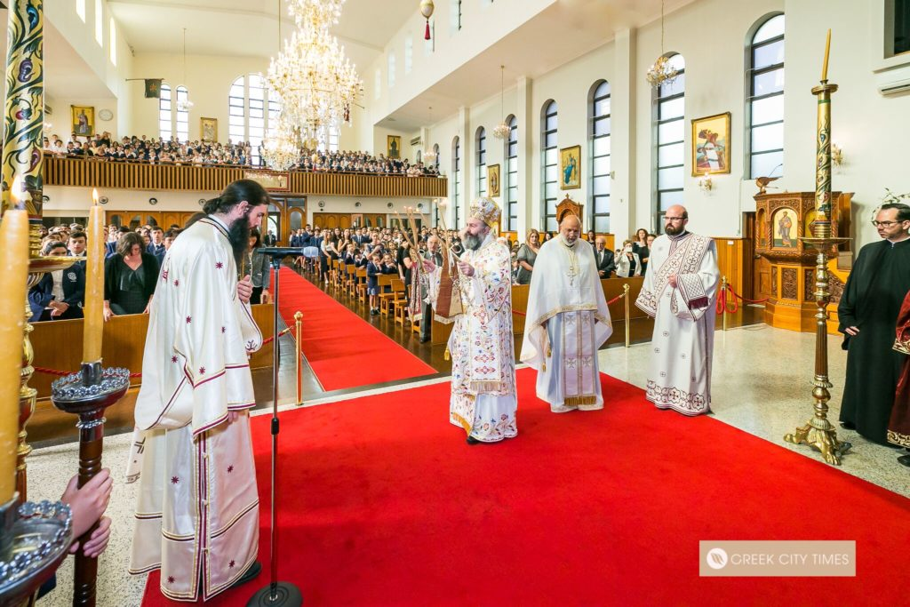 St Spyridon College Divine Liturgy celebrated by His Eminence Archbishop Makarios 27