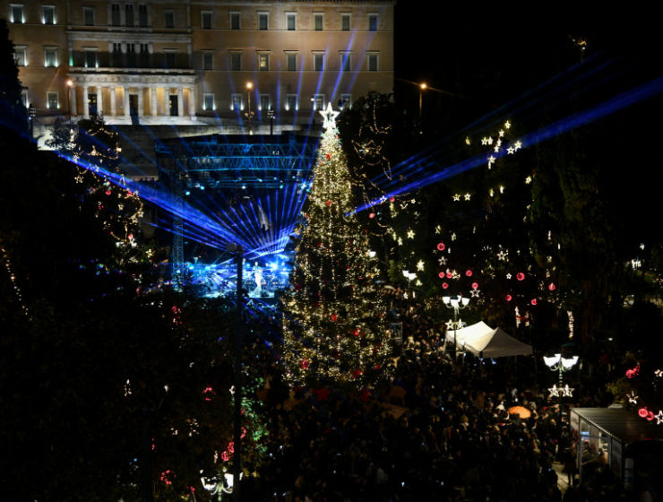 Athens' official Christmas tree lights up the Greek Capital for 2019 2