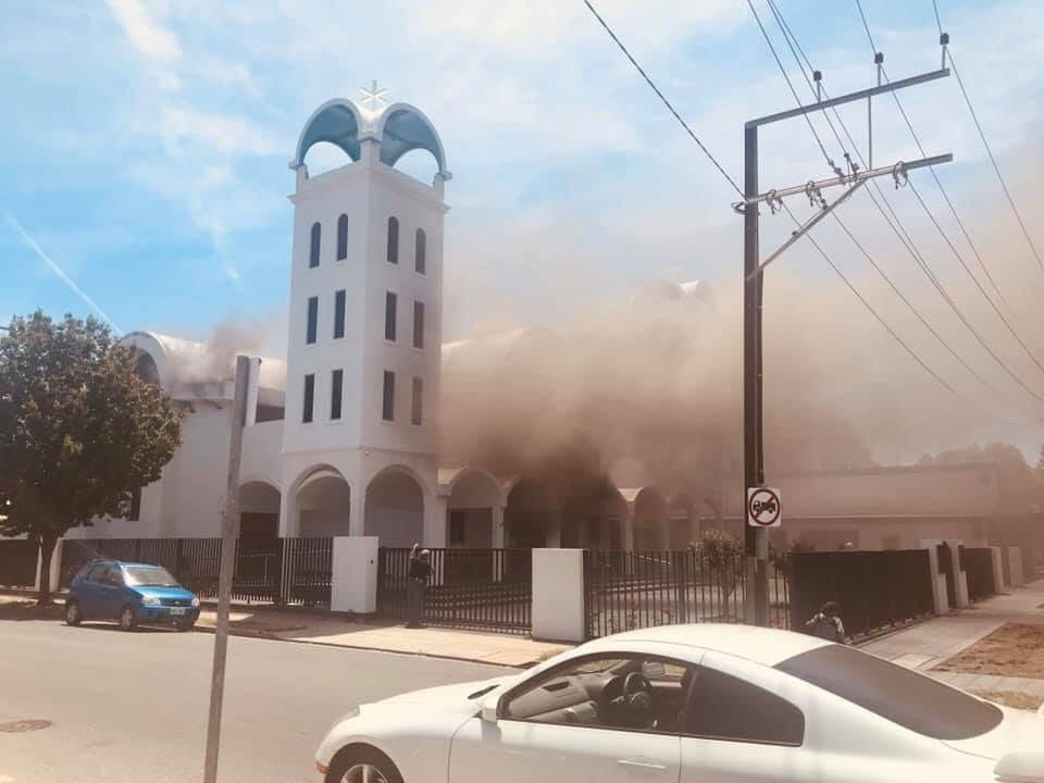 Greek Orthodox Church in Adelaide is up in flames on Agios Nikolaos Feast Day 1