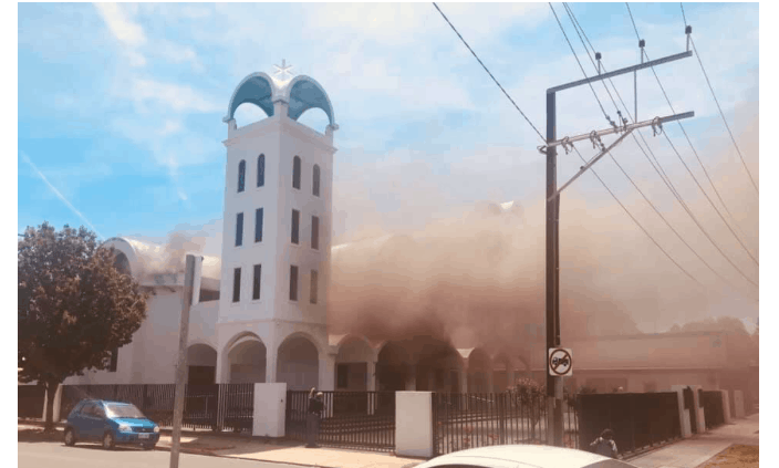 Greek Orthodox Church in Adelaide is up in flames on Agios Nikolaos Feast Day 3