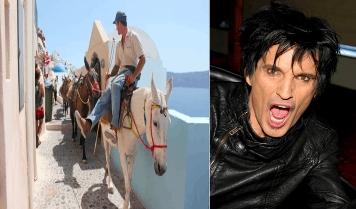 Greek-born musician Tommy Lee asks Greece to end donkey rides in Santorini 1