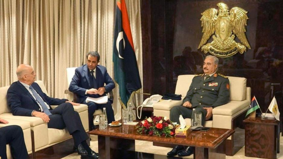 Greek Foreign Minister meets the General of Libyan National Army 2