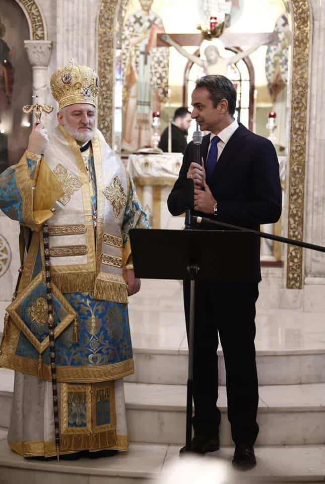 ARCHBISHOP OF AMERICA AND PM MITSOTAKIS