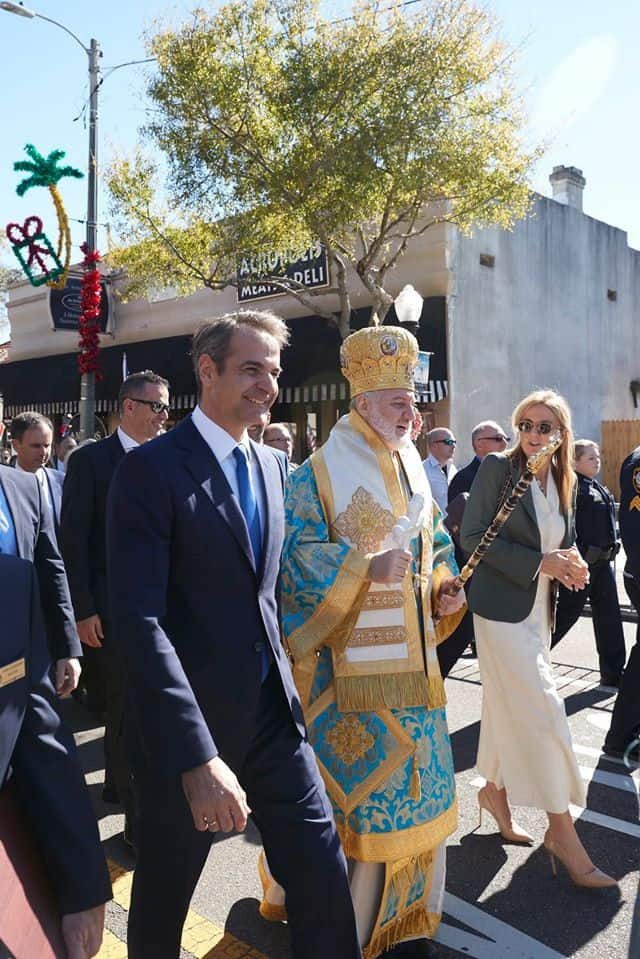 PM MITSOTAKIS ARCHBISHOP AMERICA AND FIRST LADY