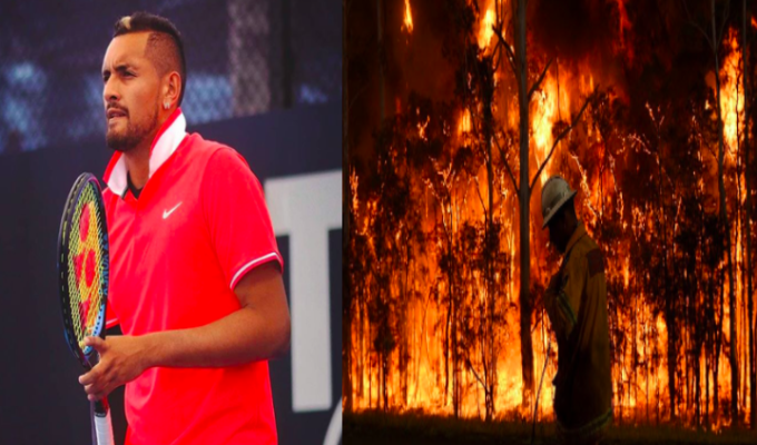 Nick Kyrgios calls on Tennis Australia to organise fundraiser for bushfire victims 9