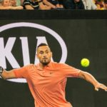 Nick Kyrgios hits a Great forehand