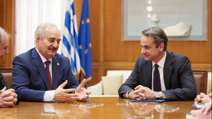 Greek Foreign Minister and PM talks to General Haftar 1