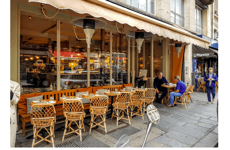 GREEK CAFE IN PARIS