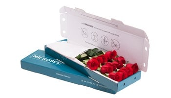 Mr Roses gift box of red roses