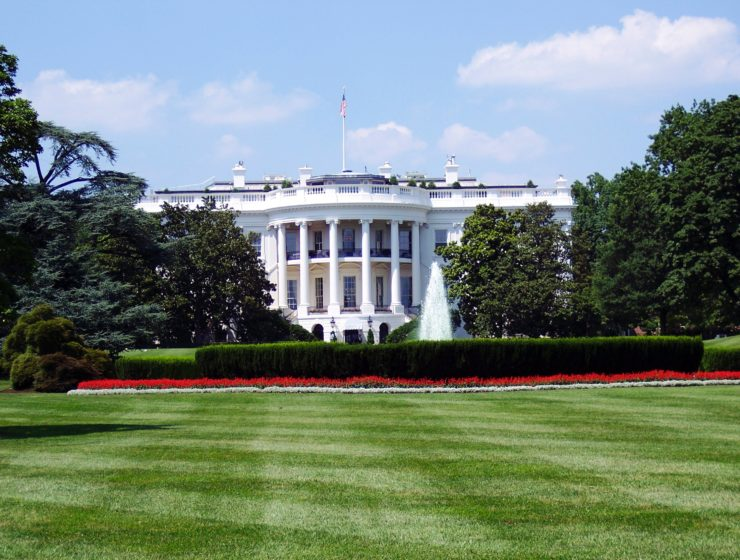 The White House is a classical style piece of architecture, inspired by Greek and Roman buildings.