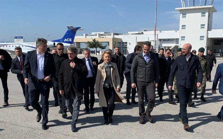 heads of European institutions visit Greek-Turkish border