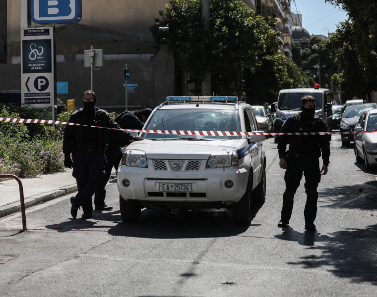 Anti-terrorism raid in central Athens