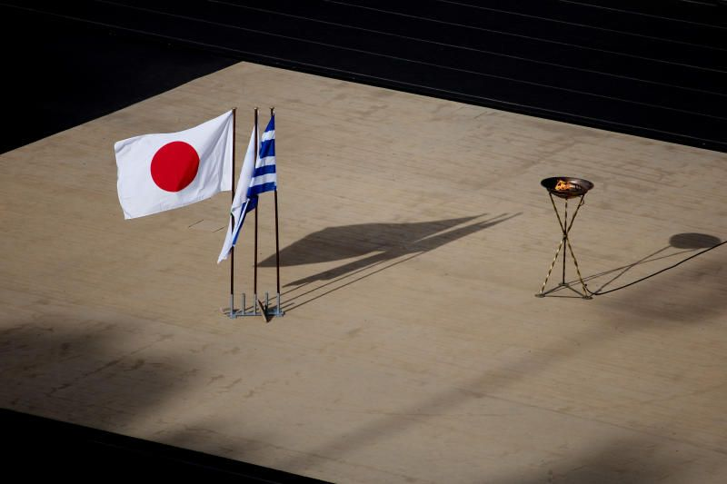 Tokyo 2020 Olympic Games flame handover