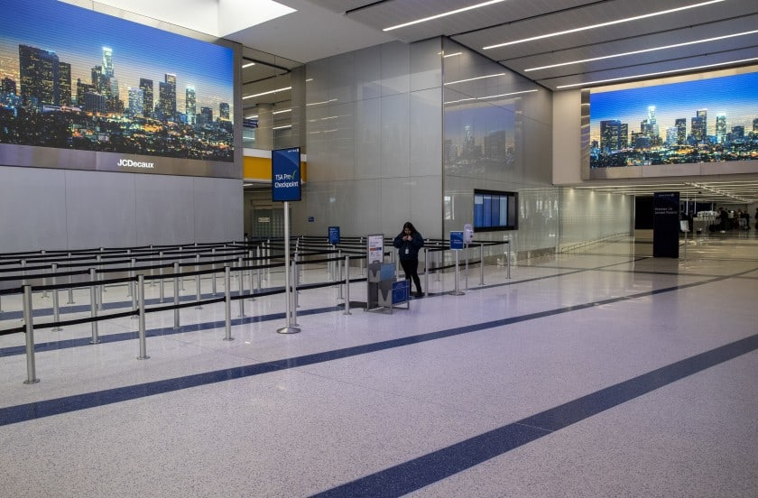 empty Los Angeles International Airport