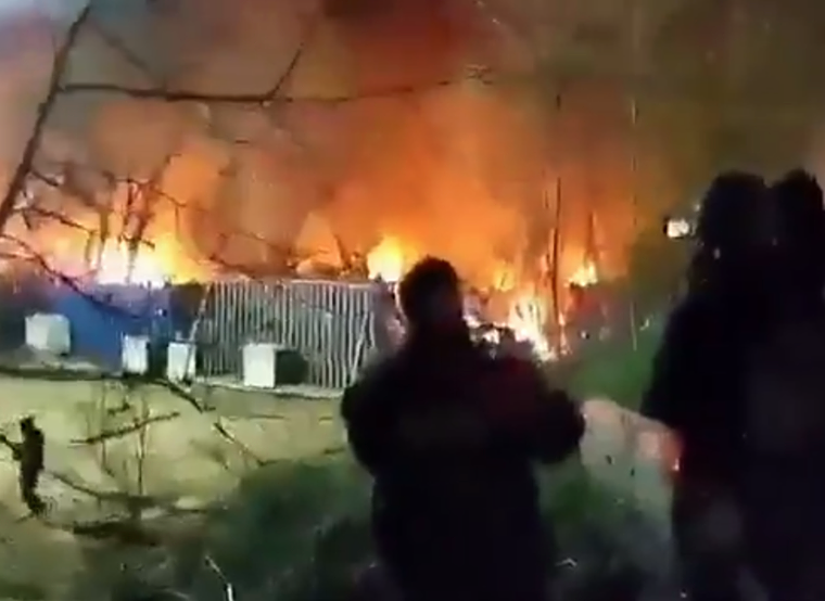 Turkish authorities set fire to camp on Evros border to force illegal immigrants to leave (VIDEO) 4