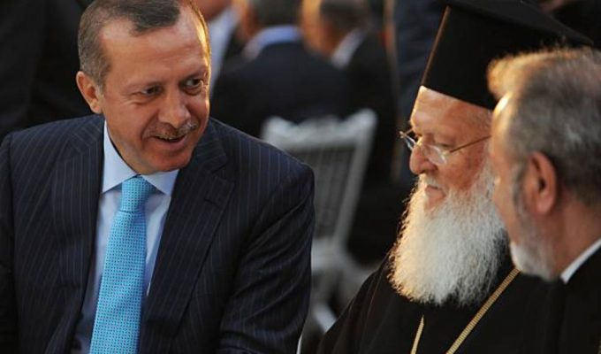 Erdoğan thanked the Ecumenical Patriarch Bartholomew